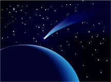 Blue comet Royalty Free Stock Photo