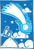 Blue Comet Royalty Free Stock Images