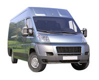 Blue commercial delivery van Stock Photography