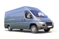 Blue commercial delivery van Royalty Free Stock Photos