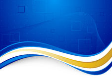 Blue communicational background with golden border Royalty Free Stock Photos