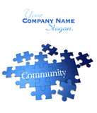 Blue Community puzzle Royalty Free Stock Images
