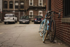 Blue Commuter Bicycle Royalty Free Stock Image