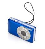 Blue compact camera Royalty Free Stock Photo
