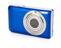 Blue compact camera royalty free stock photos