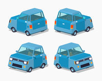 Blue compact car Stock Photo