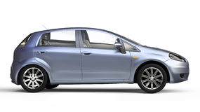 Blue Compact Car Stock Image