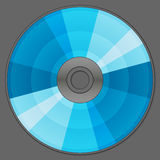 Blue compact disc Stock Images