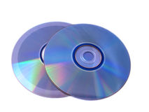 Blue compact discs royalty free stock photos