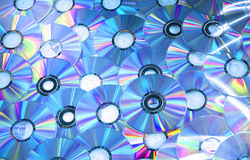 Blue compact discs Royalty Free Stock Photo