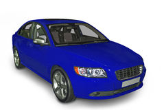 Blue Compact Hybrid Stock Images