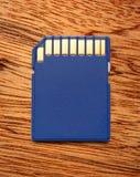 Blue compact memory card Stock Photos