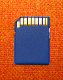 Blue compact memory card Stock Image
