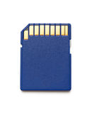 Blue compact memory card Royalty Free Stock Photo