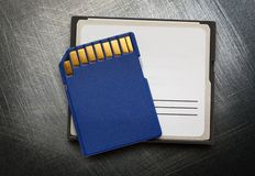 Blue compact memory cards Royalty Free Stock Photo