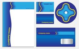 Blue company vector set Royalty Free Stock Photo