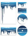 Blue company vector set Stock Image