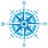 Blue compass. Illustration of a blue compass Royalty Free Stock Photo