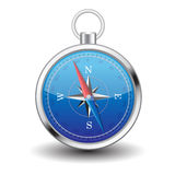 Blue Compass. Vintage world Royalty Free Stock Image