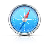 Blue compass Stock Images