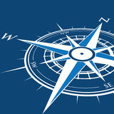 Blue compass background Stock Photography