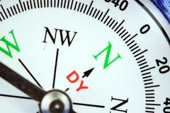 Blue compass directional device royalty free stock photography
