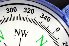 Blue compass directional device royalty free stock images