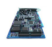 Blue computer board Royalty Free Stock Image