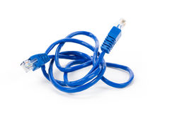 Blue Computer Cable Stock Image