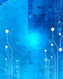 Blue computer circuit Royalty Free Stock Photography