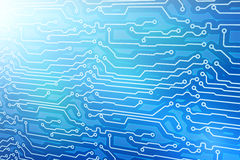 Blue computer circuit board Stock Images