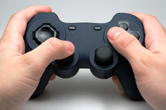 Blue computer gamepad Royalty Free Stock Photography