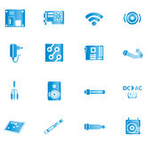 Blue computer icons Royalty Free Stock Images