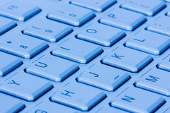 Blue computer keyboard Royalty Free Stock Image