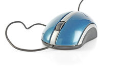 Blue computer mouse Stock Photos