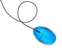 Blue computer mouse Stock Images