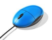 Blue computer mouse Stock Photos