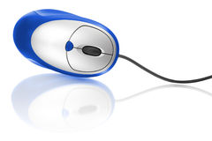 Blue computer mouse Royalty Free Stock Images
