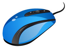Blue computer mouse vector illustration Stock Images