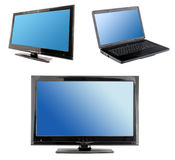 Blue computer screens display Royalty Free Stock Photos