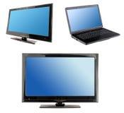 Blue computer screens display Royalty Free Stock Photos