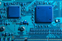 Blue computer substrate Royalty Free Stock Photo