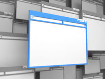 Blue Computer window. Stock Image