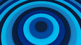 Blue concentric circles 3D illustration. Blue concentric circles. Abstract background 3D illustration stock illustration