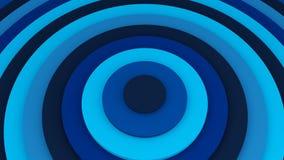 Blue concentric circles 3D illustration. Blue concentric circles. Abstract background 3D illustration Stock Image