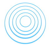 Blue concentric  rings Royalty Free Stock Photos