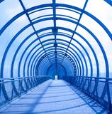 Blue concentric tunnel Stock Photo