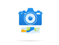 Blue concept camera icon Royalty Free Stock Image