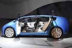BLUE CONCEPT-CAR TOYOTA HYBRID X Royalty Free Stock Image