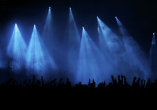 Blue concert royalty free stock photos
